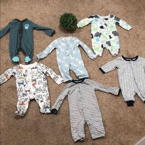 Bundle of 6 full body suits for newborn baby boy💙